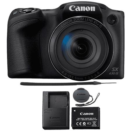 Canon PowerShot SX430 IS 20MP Digital Camera 45x Optical Zoom Black Wi-Fi /