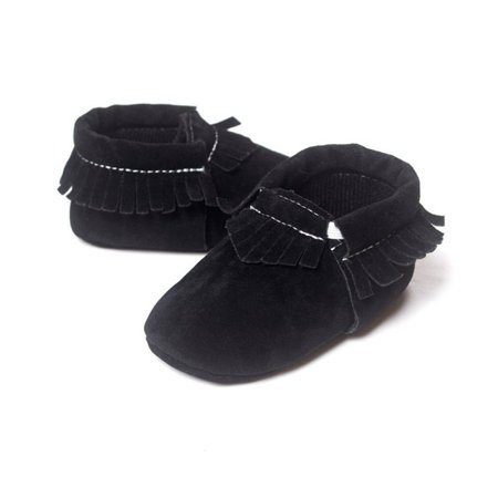 Kids Baby Shoes PU Suede Leather Newborn Boys Girls Soft Shoes Fringe Soft Soled Non-slip Footwear Shoes