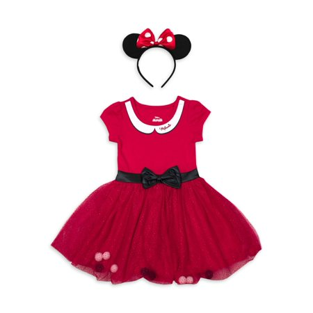 Minnie Mouse Costume Tutu Dress with Headband (Toddler Girls) Dress Up Minnie Mouse