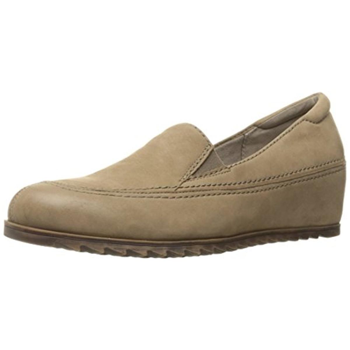 Naturalizer Wedge Womens Harker Nubuck Hidden Wedge Naturalizer Loafers 575c38