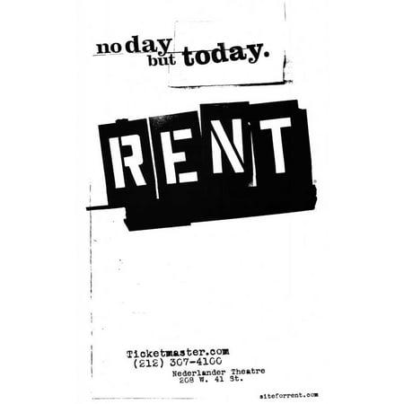 Rent 11x17 Broadway Poster - Rent Broadway Halloween