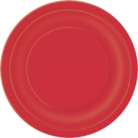 (3 Pack) Paper Plates, 7 in, Red, 24ct (Snowflake Paper Plates Clearance)