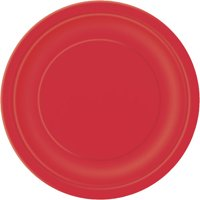 (3 Pack) Paper Plates, 7 in, Red, 24ct