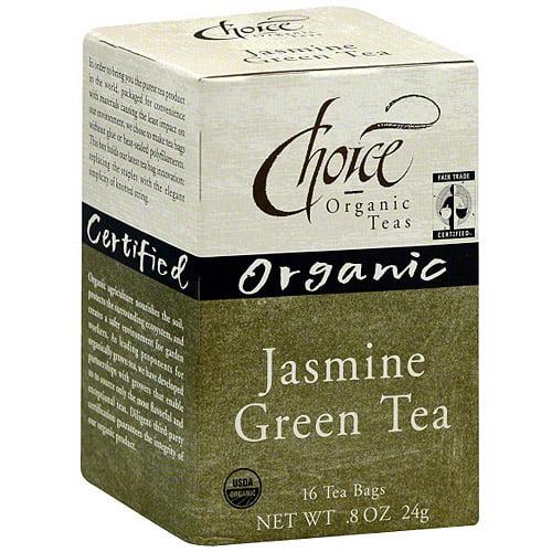 Choice Organic Teas Organic Jasmine Green Tea, 16ct (Pack of 6)
