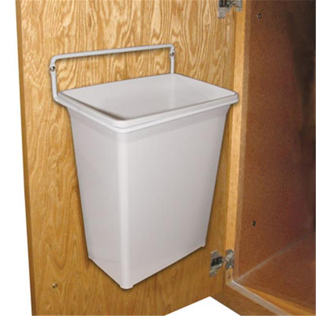 FEDWB 975W KV Door Mounted Waste Bin For Vanity 9 qt., White
