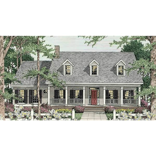 TheHouseDesigners-3643 Country House Plan with Basement Foundation (5 Printed Sets)