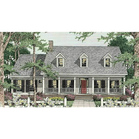 Thehousedesigners 3643 Country House Plan With Basement Foundation  5 Printed Sets