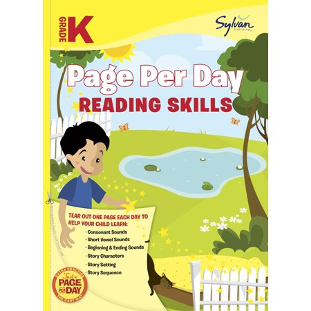 Kindergarten Page Per Day: Reading Skills (Paperback)](Halloween Read Alouds For Kindergarten)