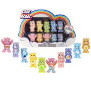 """NEW 2021 Care Bears - 2"""" Collectible Figures Ten Pack - Exclusive Glitter Bears!"""