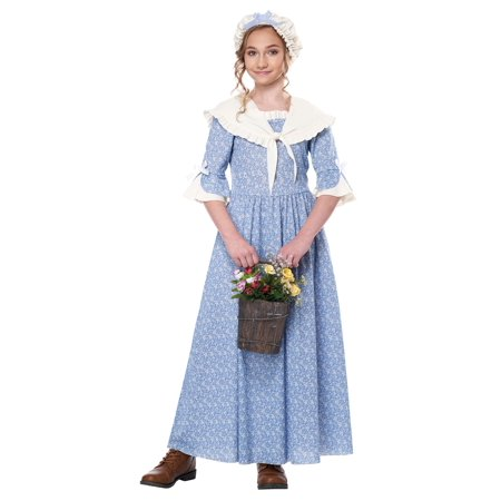 Kid's Colonial Village Girl Costume - Colonial Outfits
