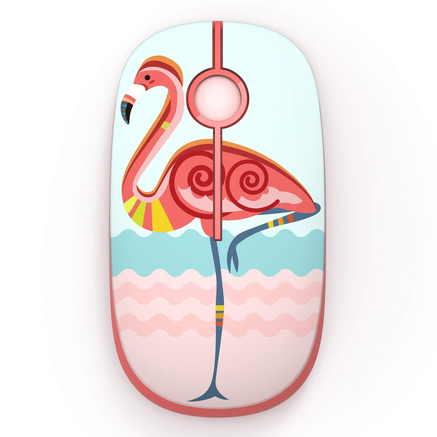 Jelly Comb 2.4G Slim Wireless Mouse with Nano Receiver (Flamingo)