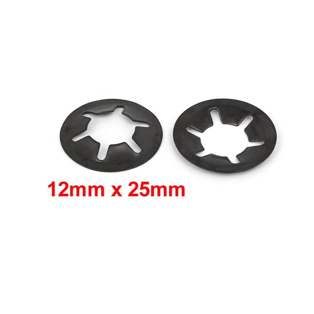 uxcell 50 Pcs 5mm x 12mm Internal Tooth Starlock Star Lock Locking Washers