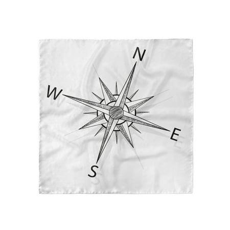Compass Head Scarf, Sea Marine Life Theme, Head Wrap, 3 Sizes, by Ambesonne Iii Marine Life