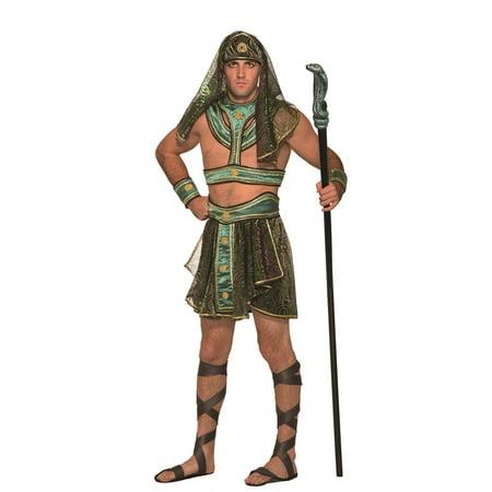 Egyptian Pharaoh Costume Mens King Tut Halloween Costume Adult Size Standard