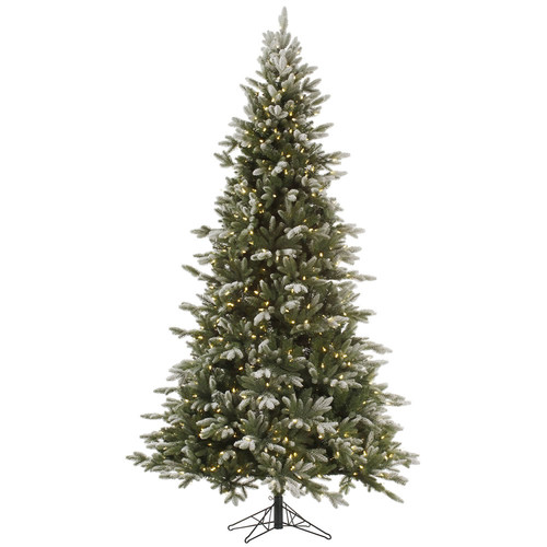 "Pre-Lit 7.5' x 54"" Balsam Dura-Lit Artificial Christmas Tree, Frosted, Clear Lights"