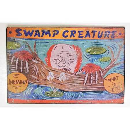 Swamp Creature Carnival Sign Halloween Decoration - Halloween Party Sign Ideas