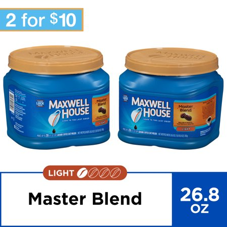 (2 Pack) Maxwell House Master Blend Ground Coffee, 26.8 oz Canister
