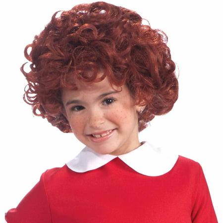 annie wig child halloween costume accessory