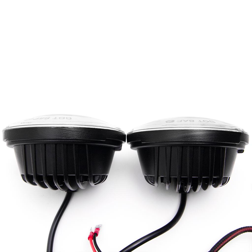 """Krator Black 2x 4.5"""" LED Spot Fog Passing Light Angel DRL for Harley Davidson Sportster 883 XLH883 1988-2003 - image 5 of 9"""