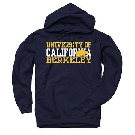 - University Of California Berkeley 3 Stacks Men's Hoodie Sweatshirt- Navy