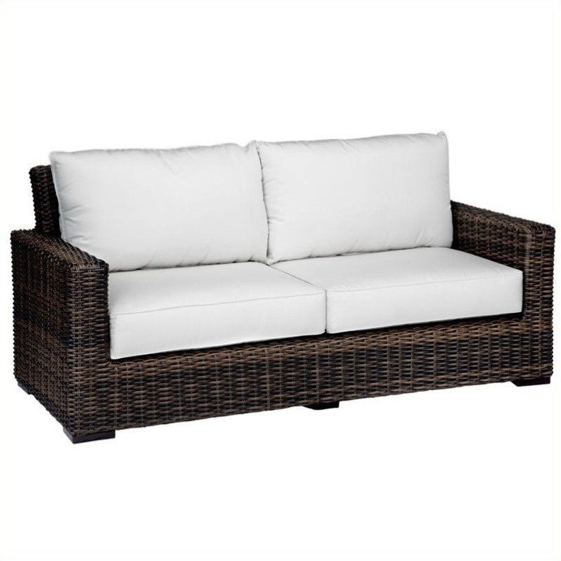 Sunset West Montecito Loveseat in Cognac-Canvas Cork