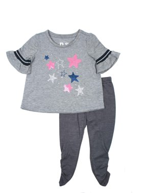 1f17b8f8 Product Image P.S. from Aeropostale Flutter Sleeve Star Top & Legging,  2-Piece Outfit Set (