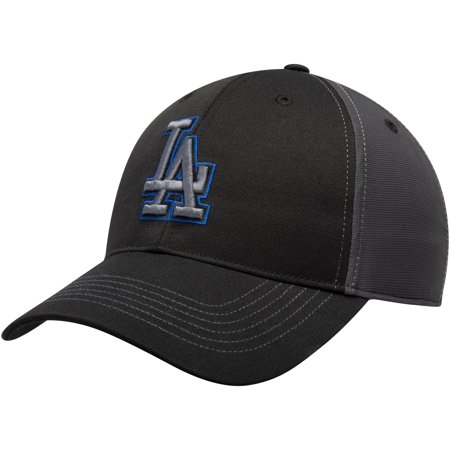 Dagger Hat (Los Angeles Dodgers Fan Favorite Blackball Adjustable Hat - Black/Charcoal - OSFA )