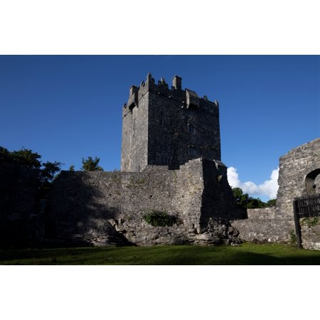 Aughnanure Castle  1490  A Late Medival Tower House On The Banks Of Lough Corrib Connemara County Galway Ireland Canvas Art   Panoramic Images  27 X 9