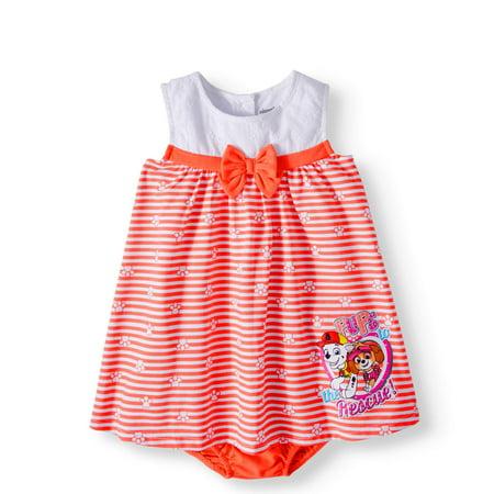 Baby Girl Sleeveless Knit Eyelet Dress & Diaper Cover, 2pc Set - Newborn Christmas Dress
