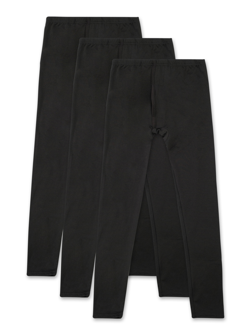 Boys 2 PC THERMAL LONG UNDERWEAR SET Moisture Wick SOLID BLACK Longjohns S 6-7