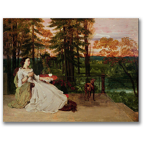 "Trademark Fine Art ""Woman Of Frankfurt"" Canvas Wall Art by Gustave Courbet"