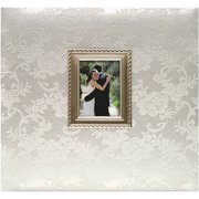 "MBI Floral Fabric With Metal Frame Postbound Album, 12"" x 12"""