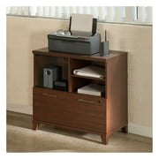 Bush Furniture Achieve Printer Stand File Cabinet in Sweet Cherry