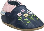 Robeez Soft Soles Stemmed Flowers Slip On Navy -4-5 Years by