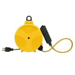 Designers Edge E-315 20-Foot Yellow Retractable Extension Cord Reel