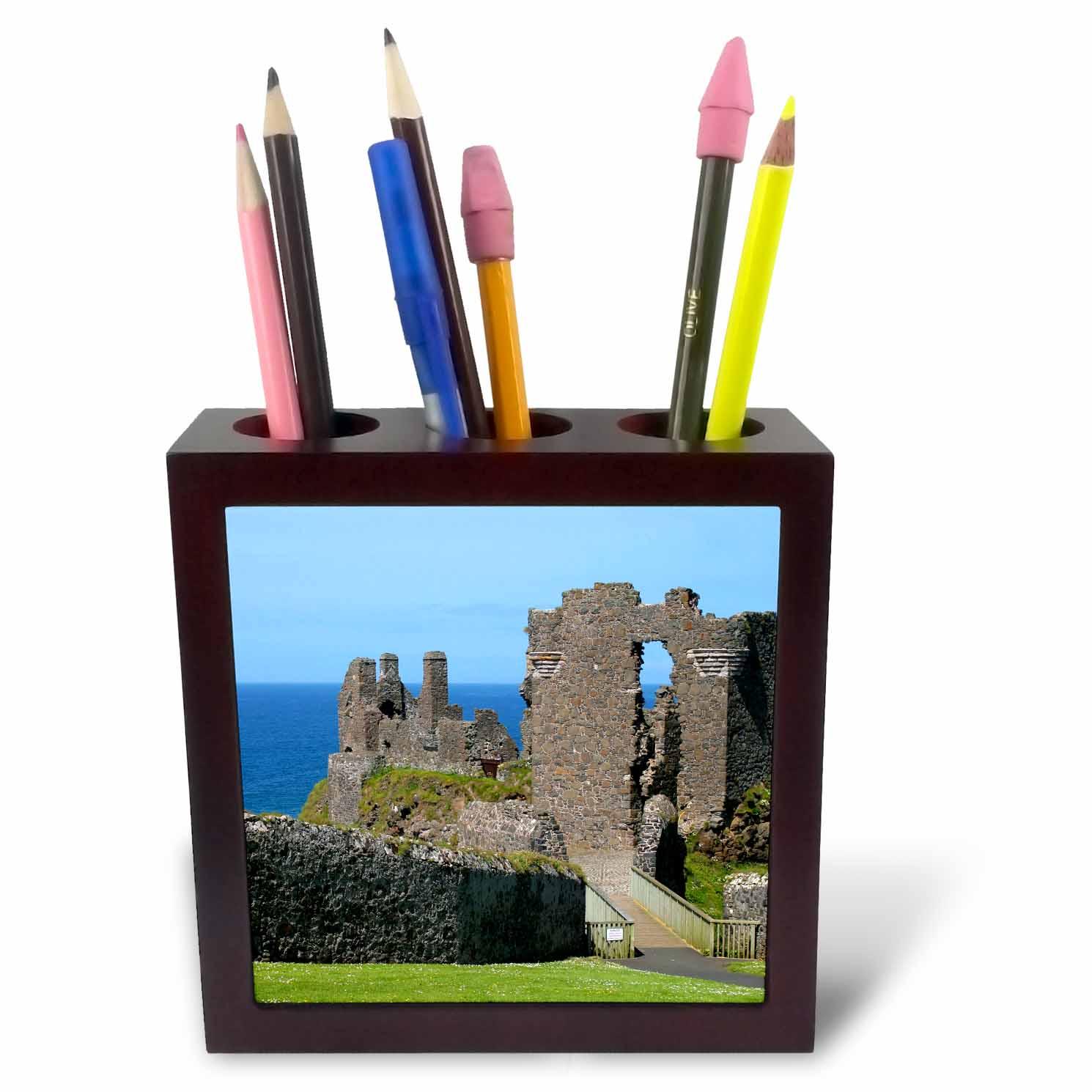 3dRose Ireland, Dunluce Castle ancient architecture - EU30 KWI0000 - Kymri Wilt, Tile Pen Holder, 5-inch