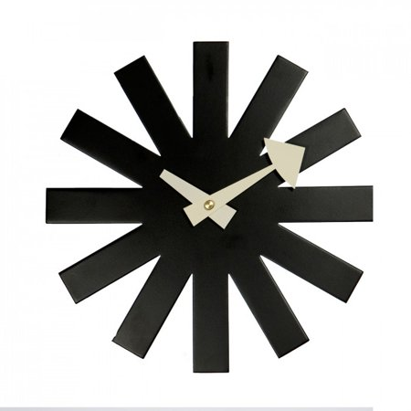 Nelson Asterisk Clock Wall Clock in Black