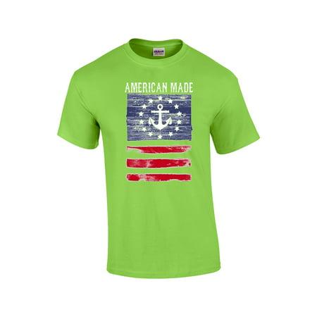 Patriotic T-Shirt American Made With Flag - Walmart.com