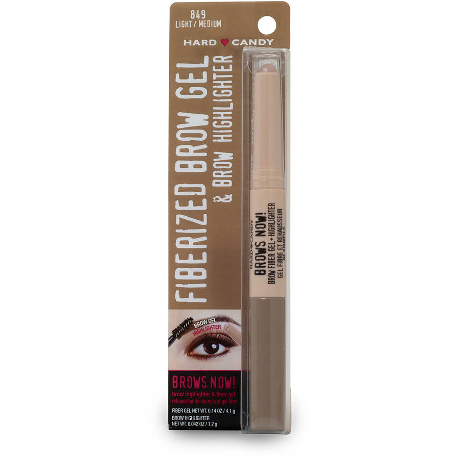 Hard Candy Brows Now! Gel & Highlighter, 0849 Light Medium, .182 oz