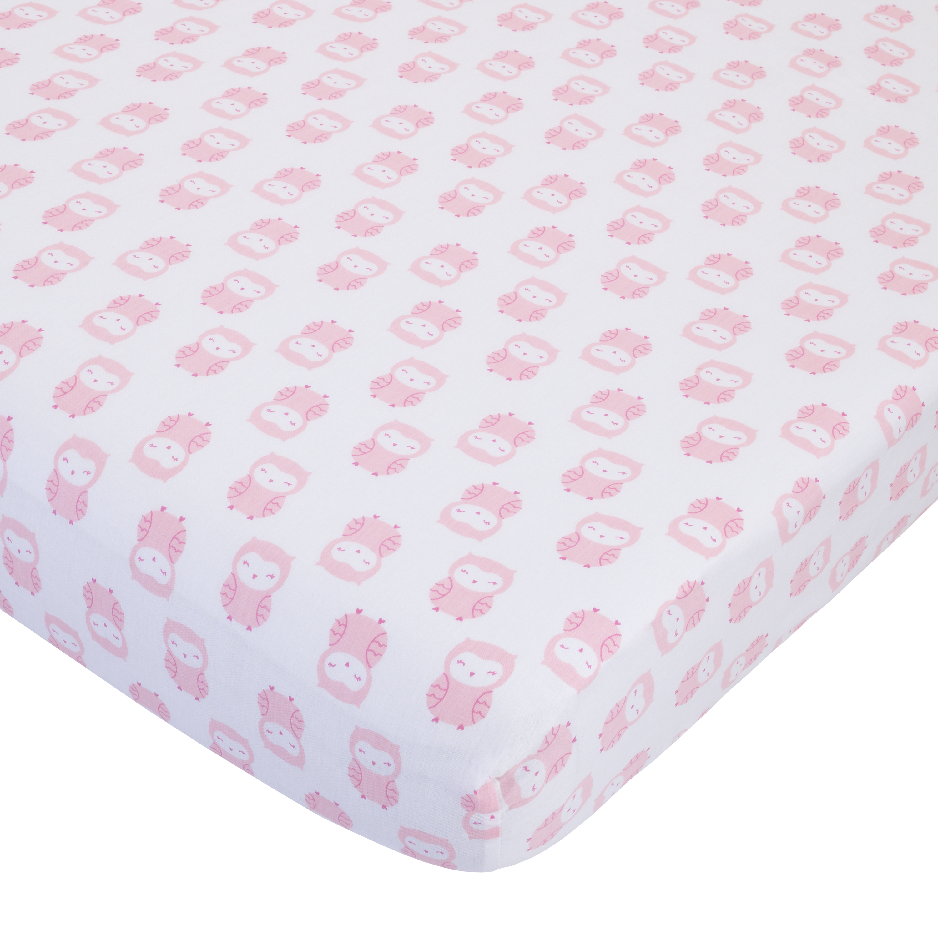 Child of Mine Princess crib sheet - owl print
