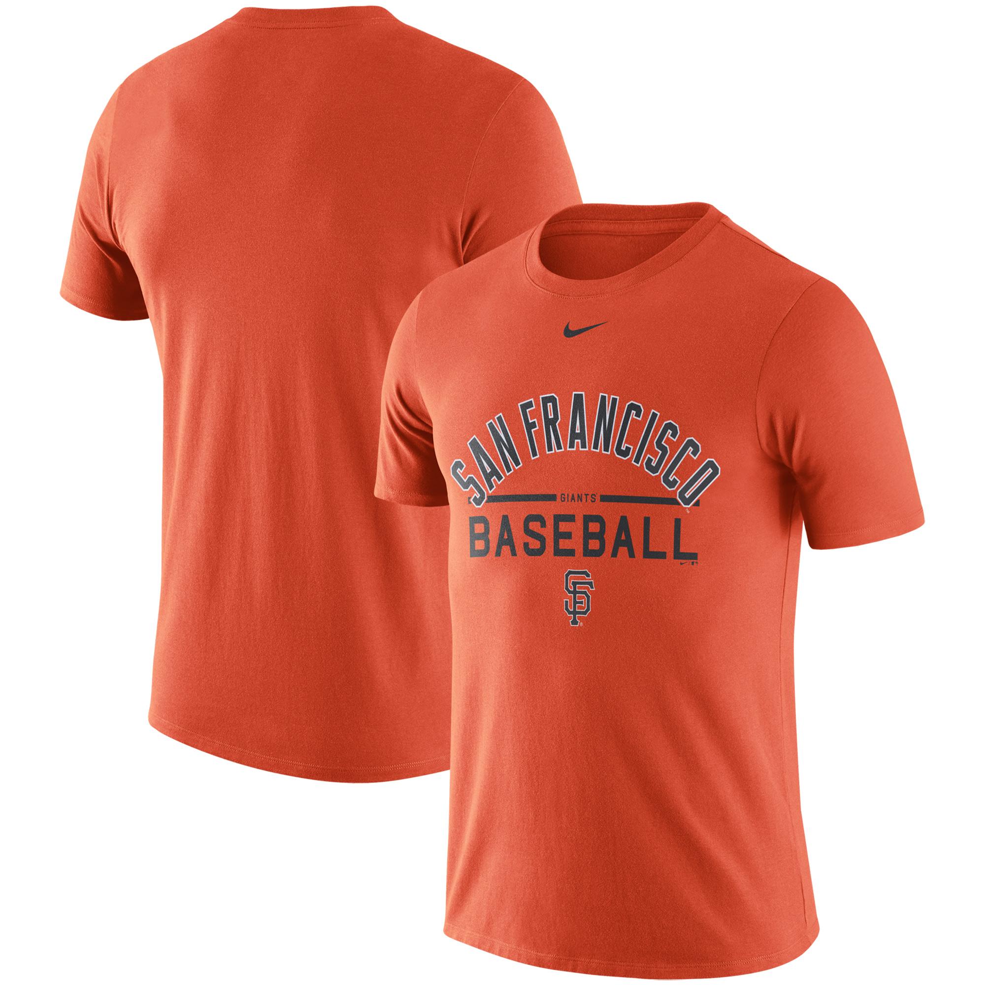 San Francisco Giants Nike Away Practice T-Shirt - Orange