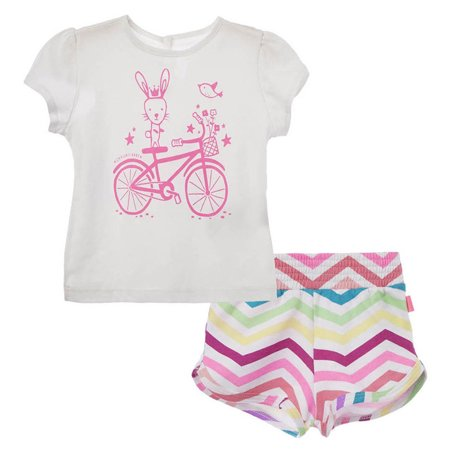 OFFCORSS Baby Girl Newborn Cotton Shirt + Colored Shorts Set | Ropa de Bebe (Roma Links)