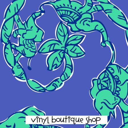 Elephant Print Lilly Inspired Printed Patterned Craft Vinyl - Elephant Crafts