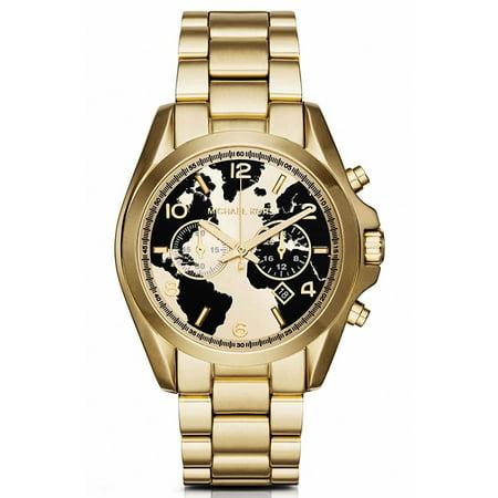 Michael kors oversized bradshaw 100 gold tone world map dial face michael kors oversized bradshaw 100 gold tone world map dial face watch mk6272 gumiabroncs Choice Image