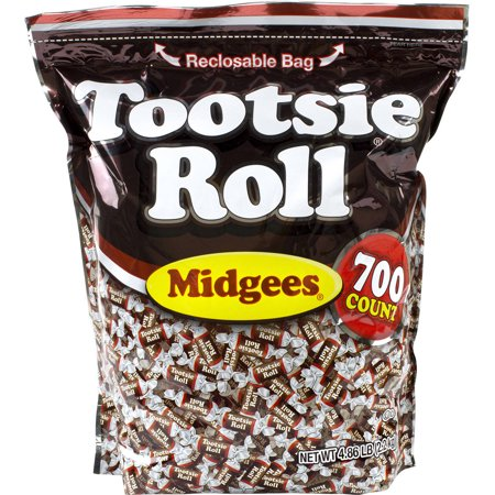 Tootsie Roll, Midgees Candy, 4.86 Lbs, 700 Ct (Lbls Roll)