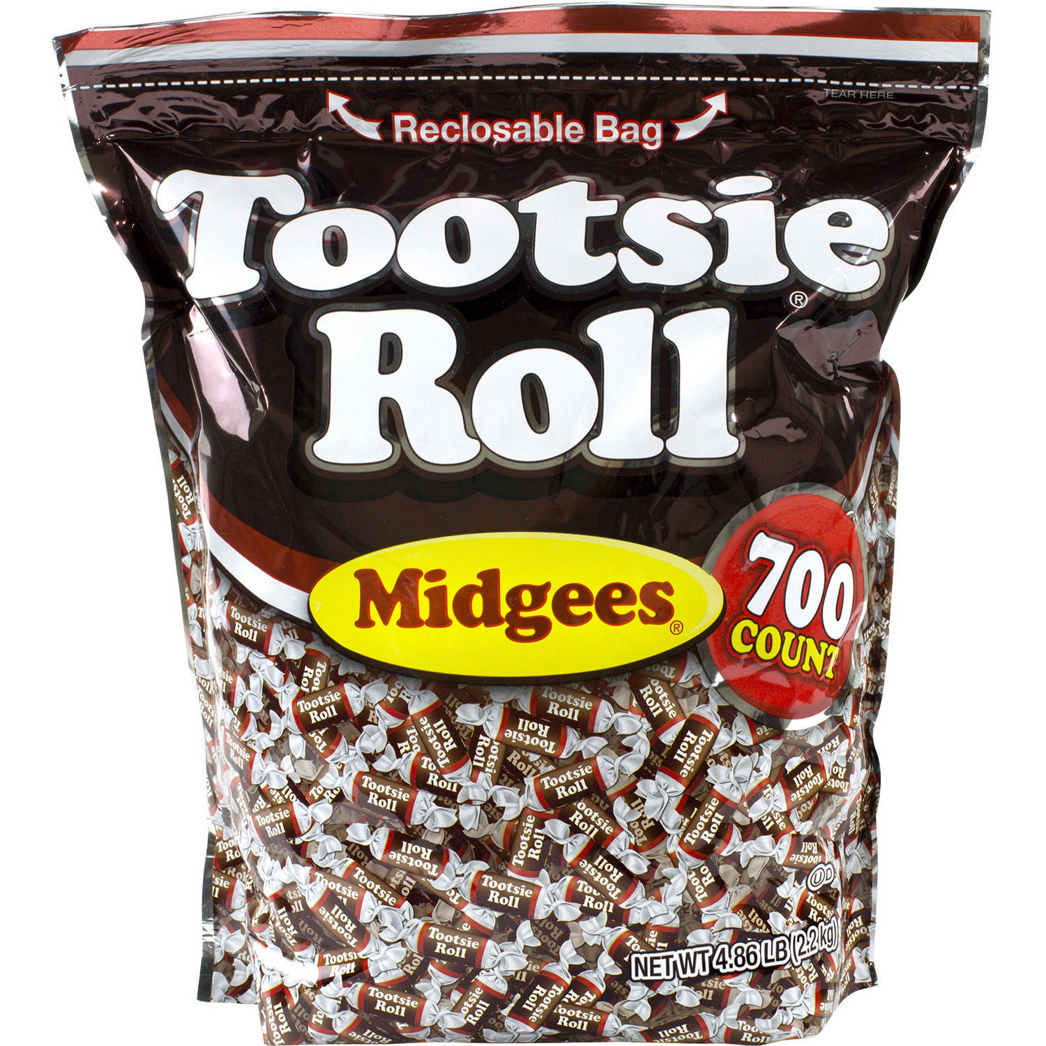 Tootsie Roll, Midgees Candy, 4.86 Lbs, 700 Ct