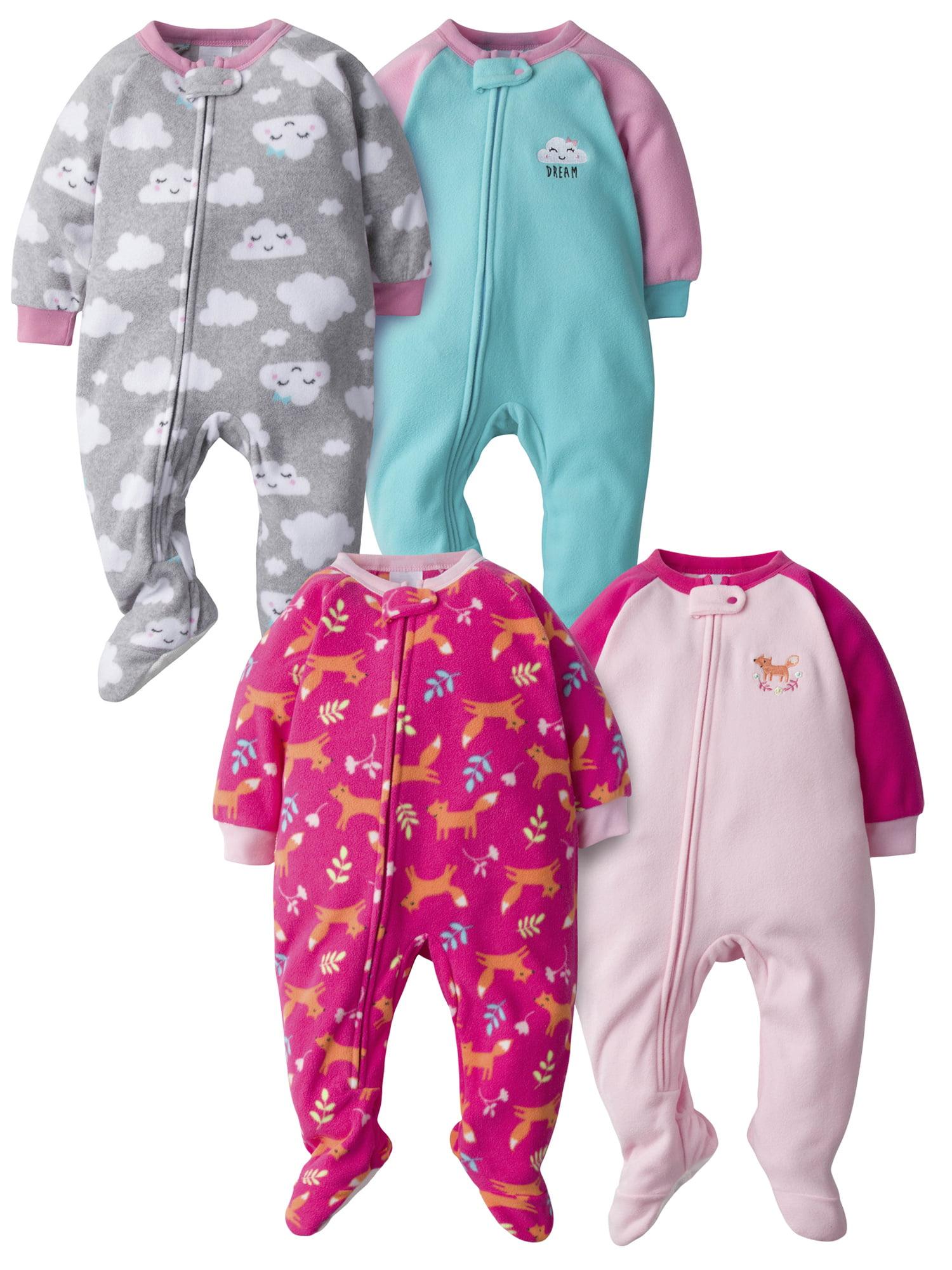 Gerber Baby Girls 4-Pack Blanket Sleeper