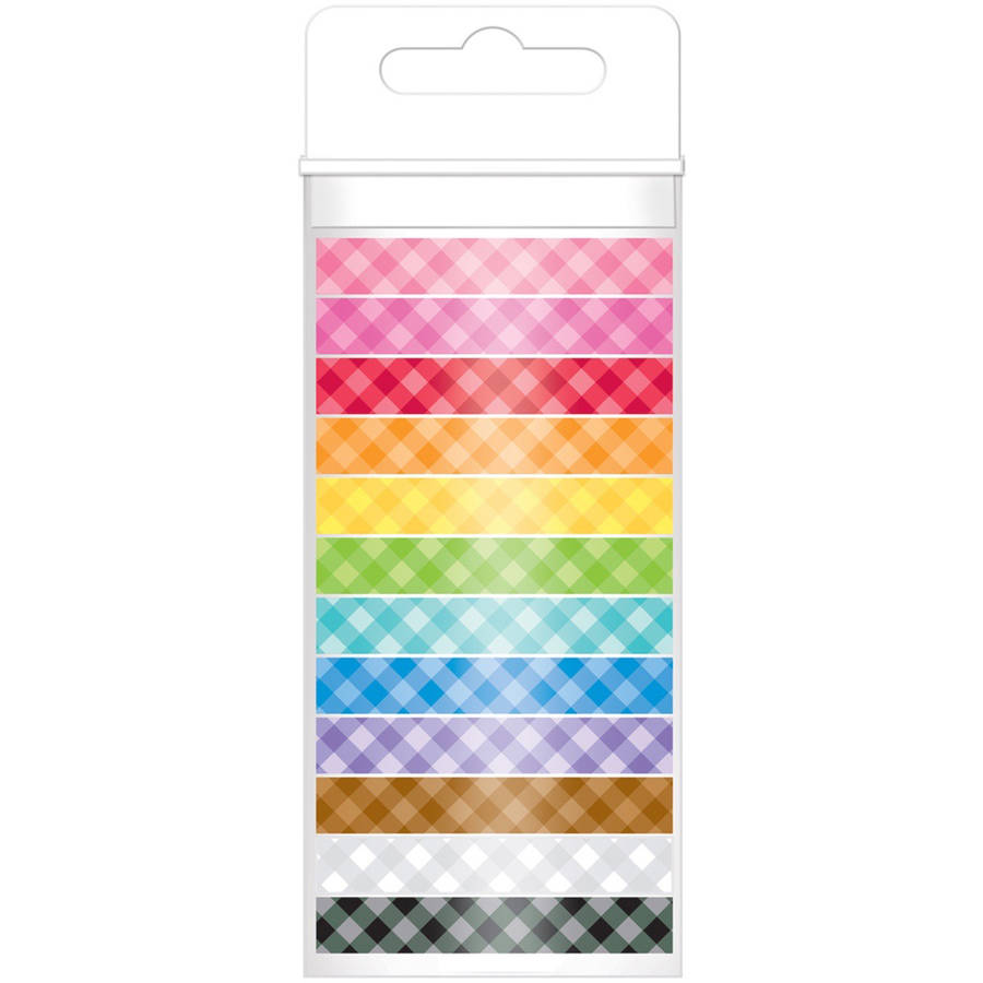 Doodlebug Monochromatic Washi Tape 8 mm x 12 yds, 12pk