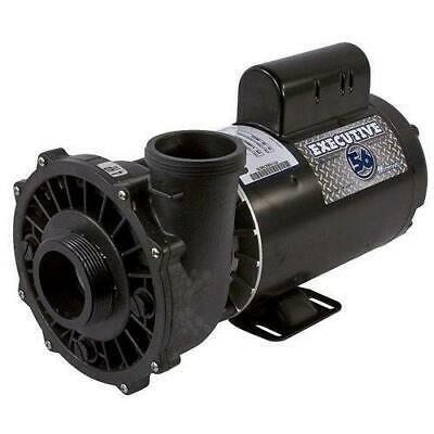 Waterway 3711621-1D Executive 56-Frame 4HP Single-Speed Spa Pump, 2in. Intake, 2in. Discharge,