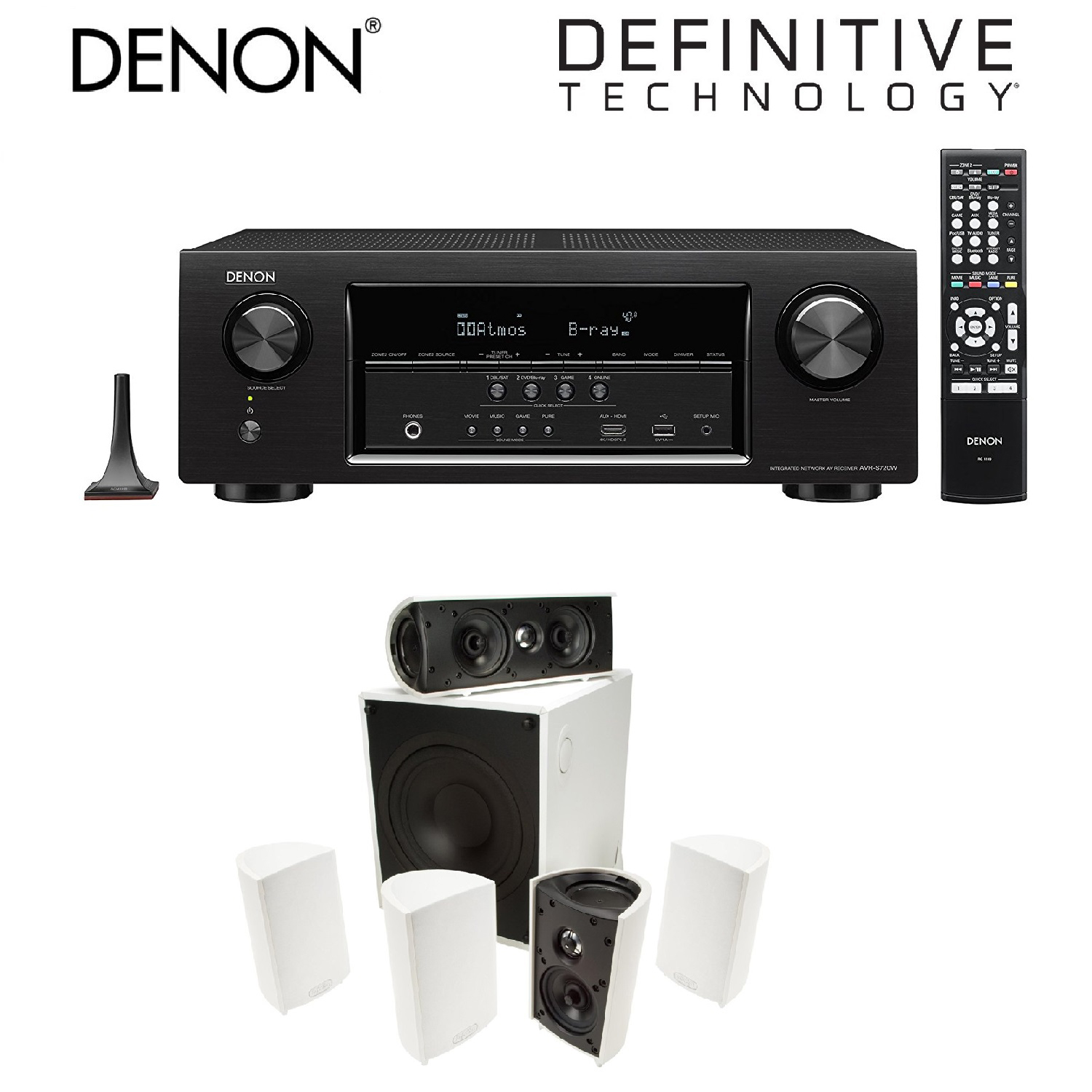 Denon AVR-S720W 7.2 Channel Full 4K Ultra HD AV Receiver ...